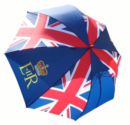 British flag on umbrella