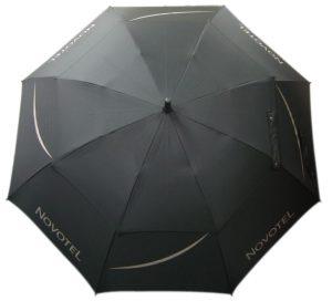black full canopy vented umbrella