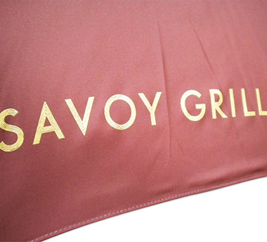 Savoy Grill Printed Umbrella