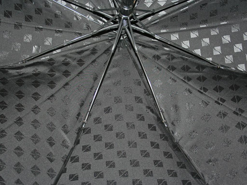 Tone on tone print on umbrella