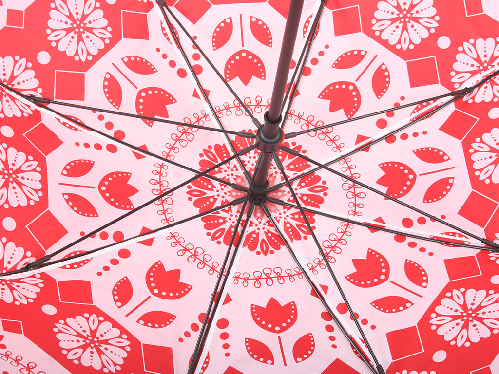 inside print of double canopy printed golf umbrella
