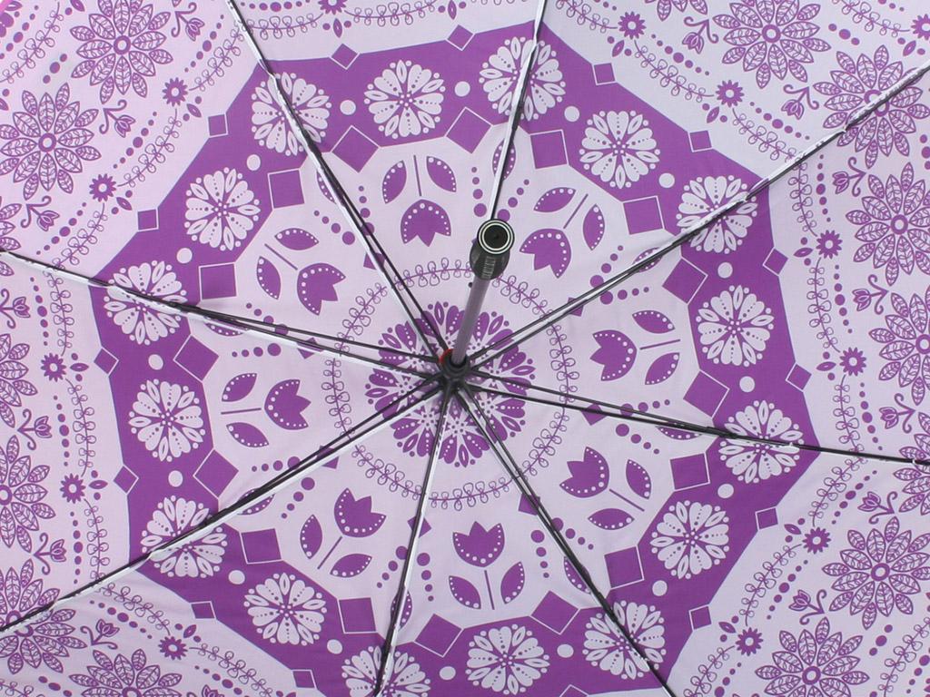 Purple all over print on umbrella