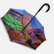 Bright photo print on umbrella