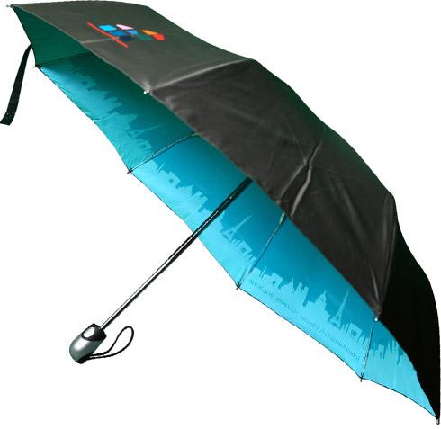 Telescopic Umbrella with Internal Print