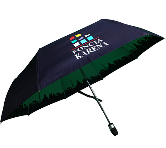 Telescopic Umbrella with Logo Print