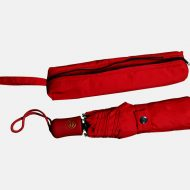 Folding telescopic umbrella with zip