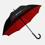 Red and black walking umbrella