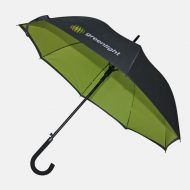 Lime green on inside of umbrella