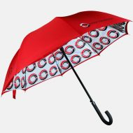 Double canopy print on walking umbrella