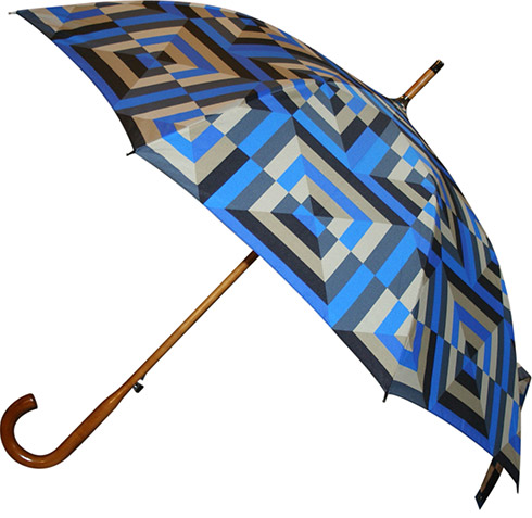 Wood Umbrella with Pattern Print