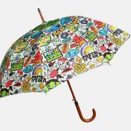 Digital print on umbrella