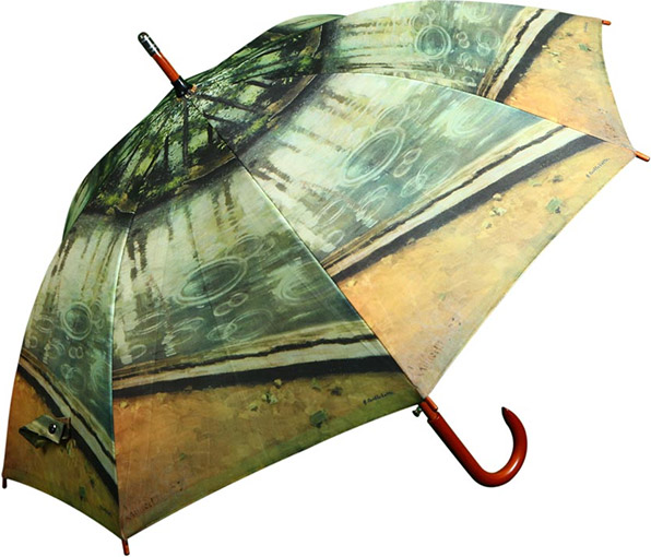 Printed Wood Walking Umbrellas