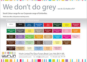 Pantone corporate colour range
