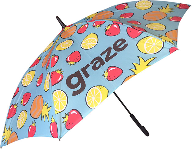 Walker umbrella with digital print