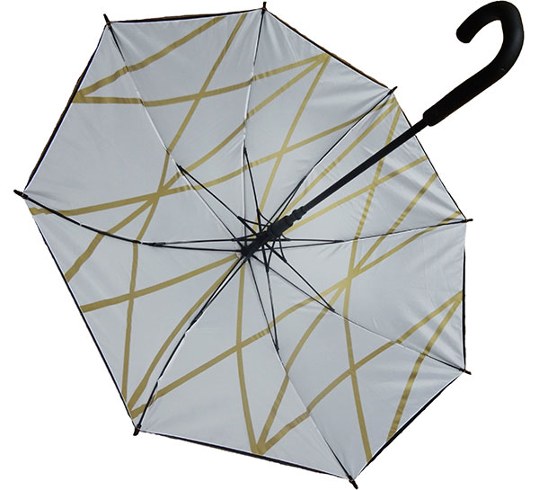 Umbrella with metallic print