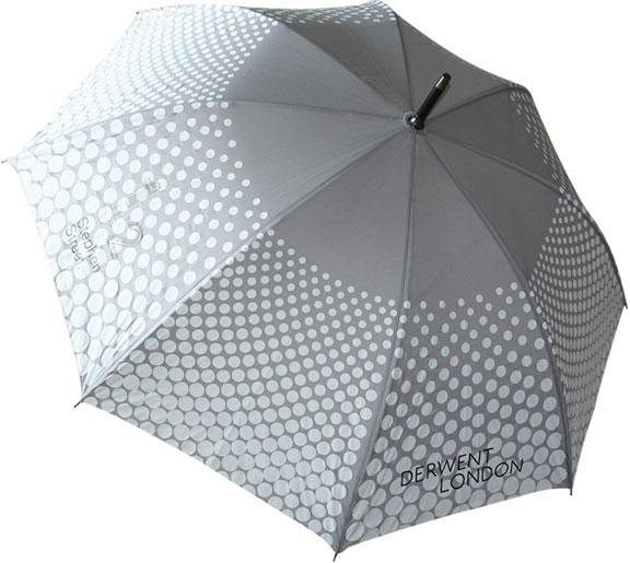 Umbrella with screen print spots