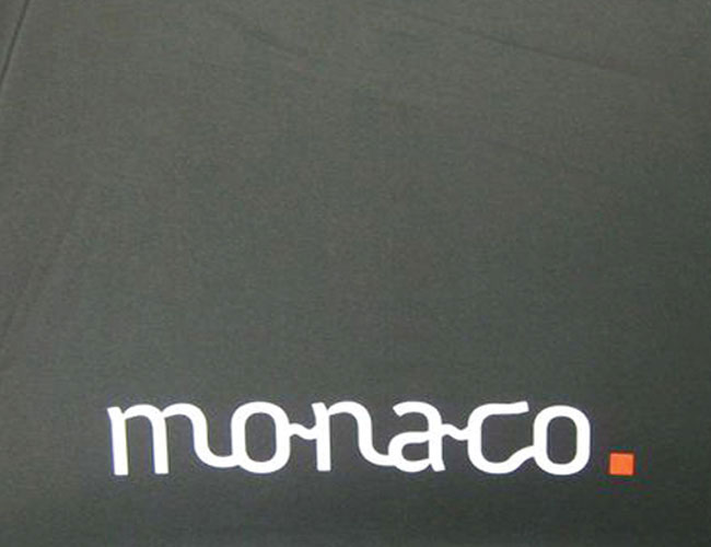 Monaco print on umbrella