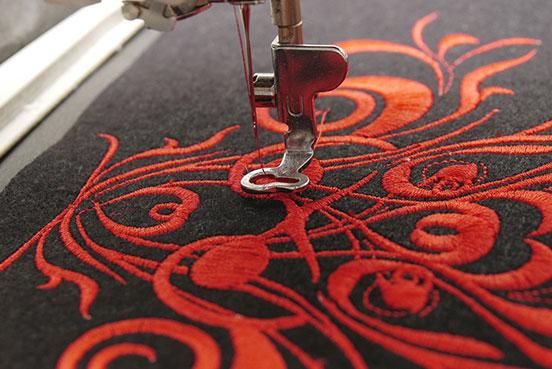 Umbrella with custom embroidery