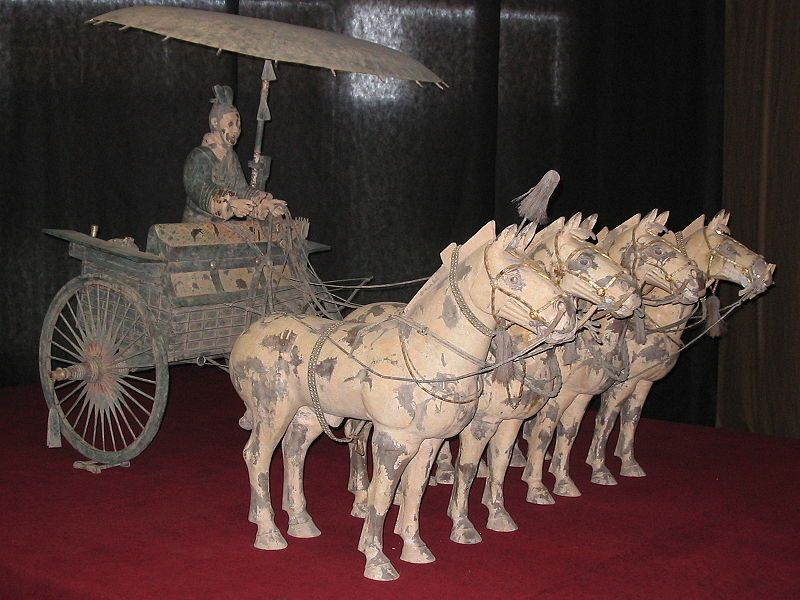 Terracotta Army carriage with umbrella from Qin Shihuang's tomb
