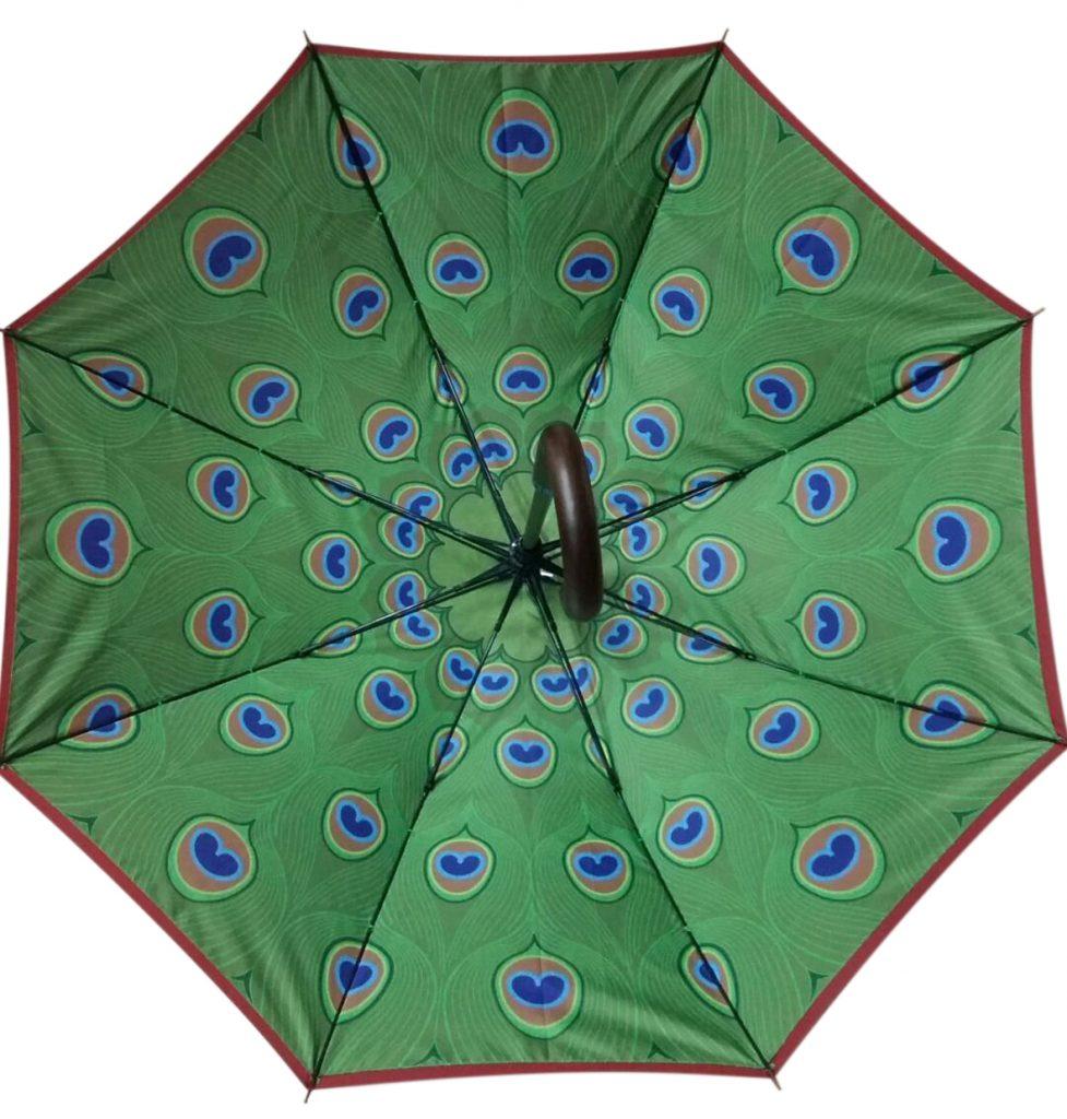 tailor made Internal printed peacock graphic umbrella