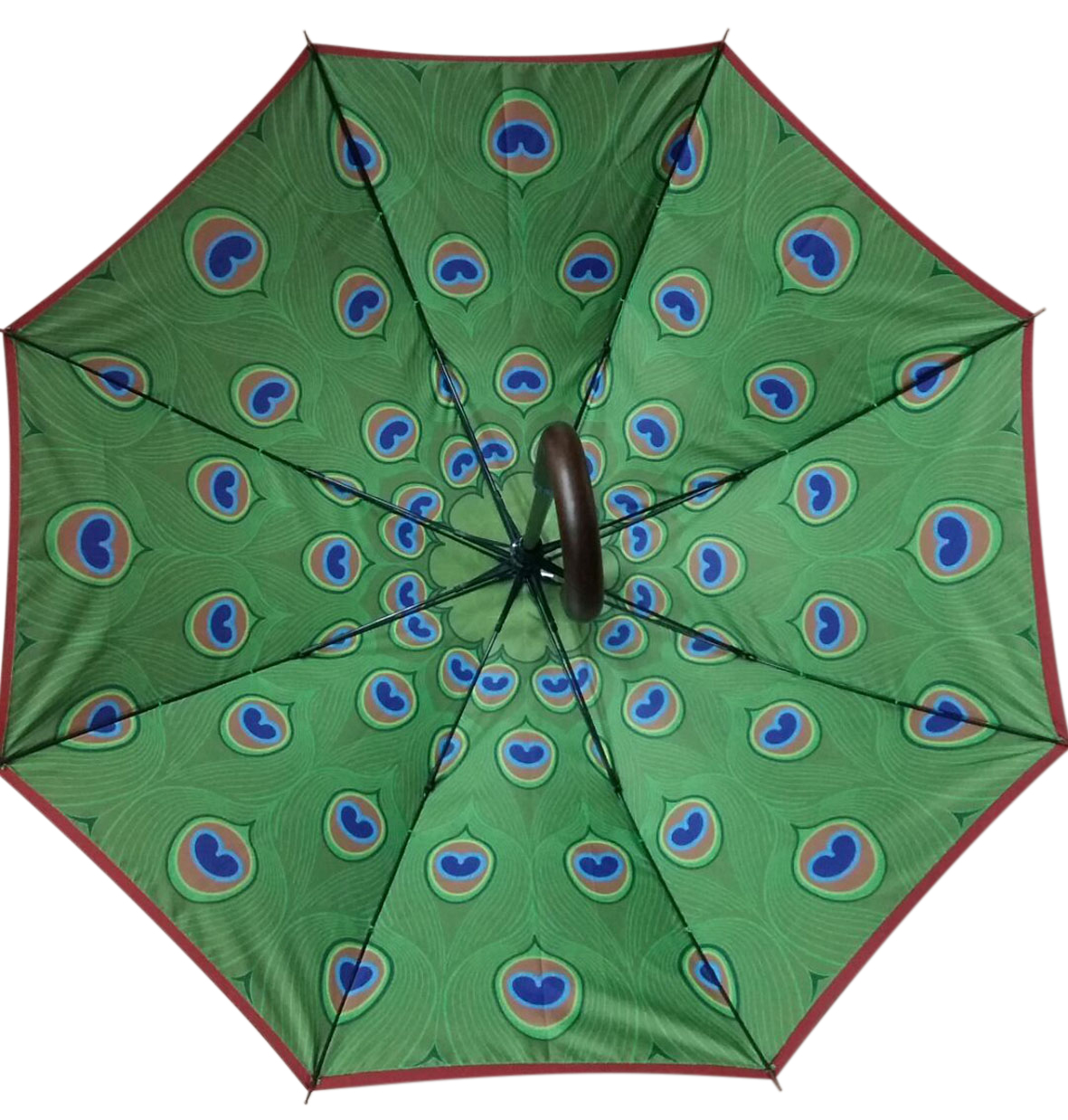 tailor made Internal printed peacock graphic umbrella