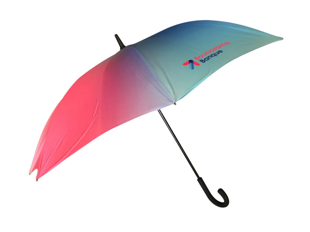 Multi tonal ombre branded umbrella