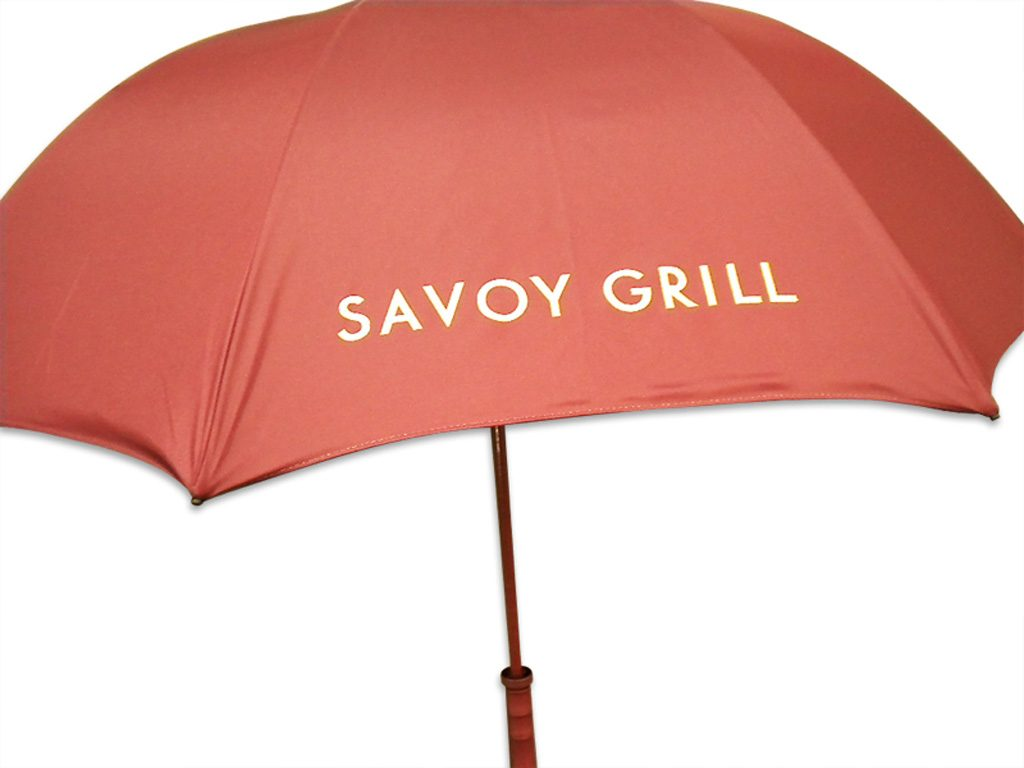 print your own branded umbrella red umbrella with contrast logo