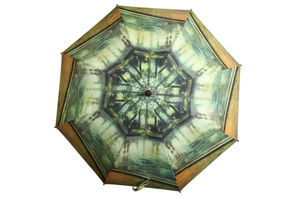 Fine art printed custom umbrella