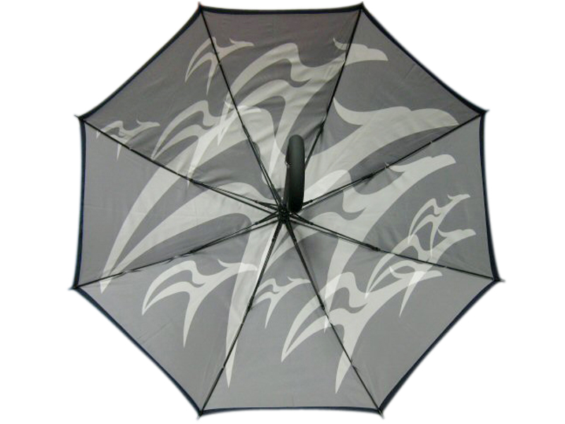 Grey two tone inside printed umbrella