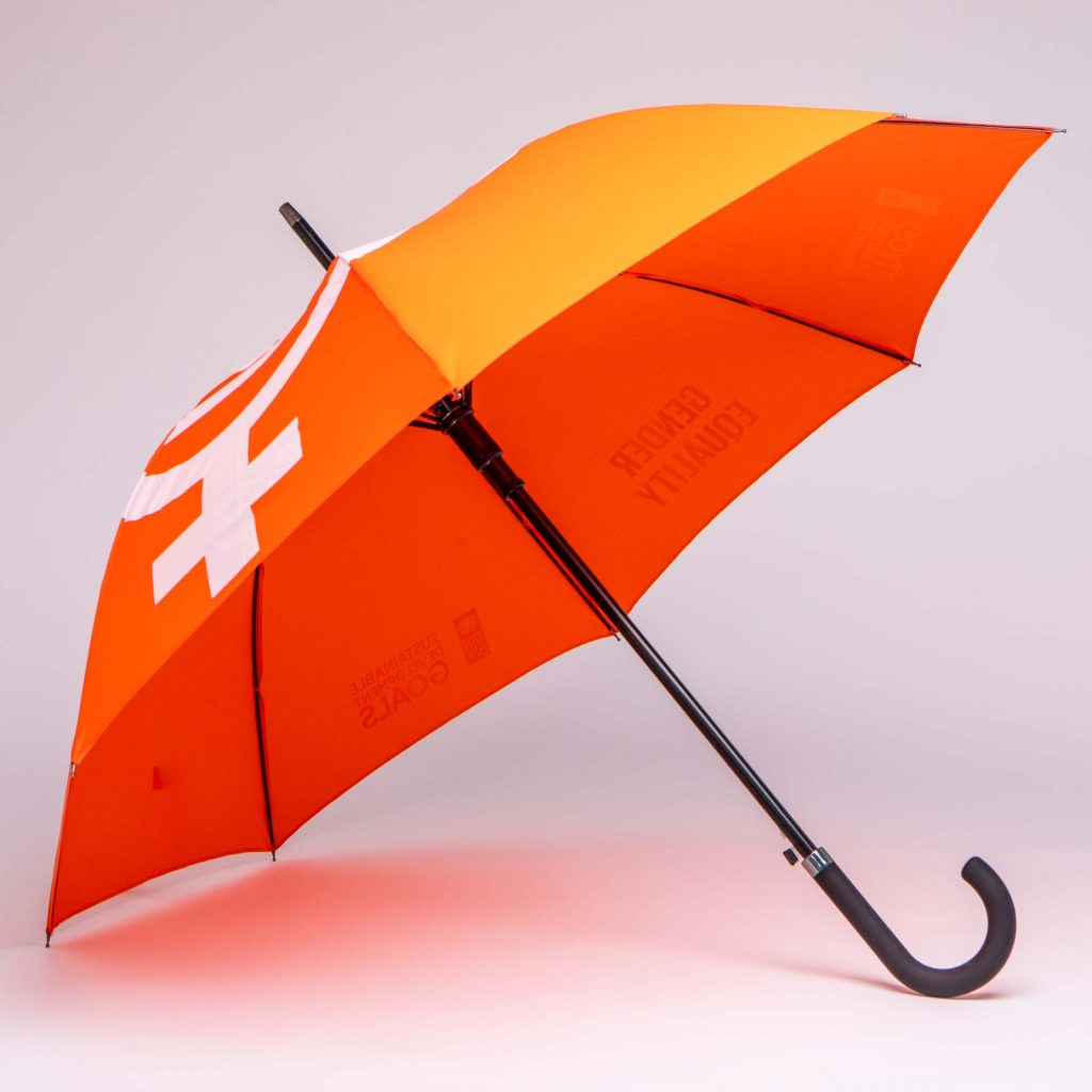 custom made promotional umbrellas for the UNITED NATIONS