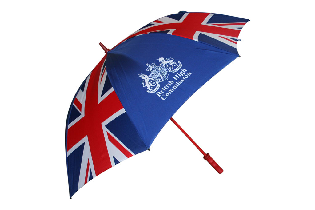 Custom printed umbrella with the Union jack