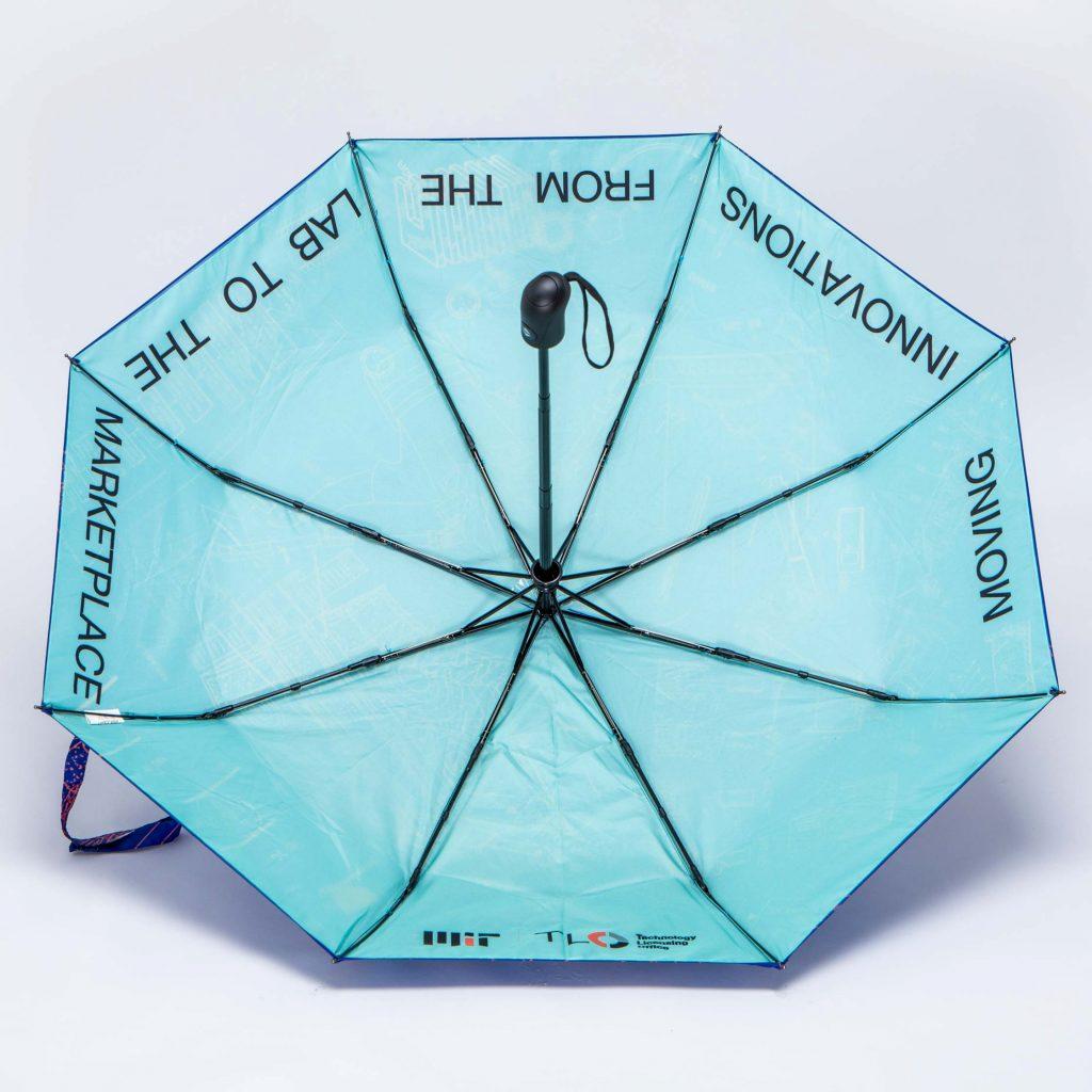 Printed folding promotional umbrella