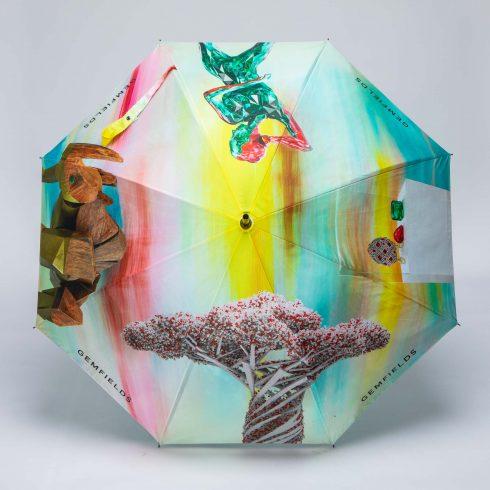 digitally printed luxury branded umbrellas