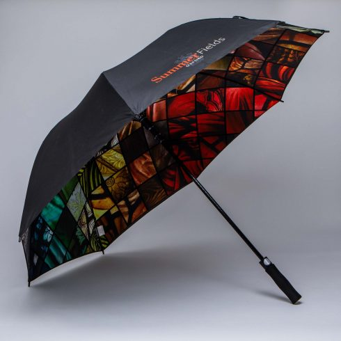 Automatic opening Golf umbrella with digital print printed vented umbrella