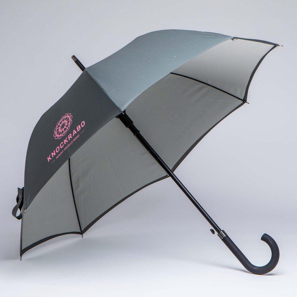 luxury hotel umbrella two tone with screen print