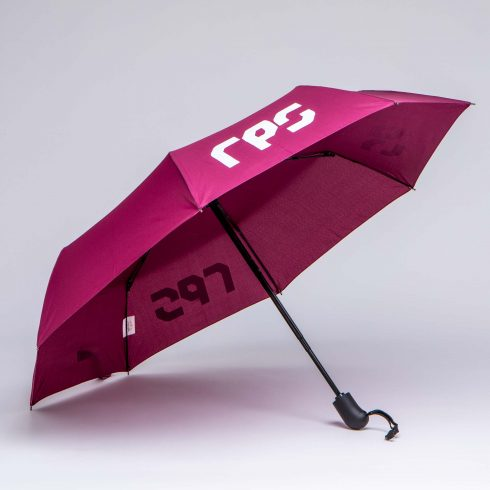 magenta Pantone matched auto opening folding umbrella