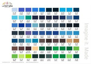 Umbrella Canopy Fabric colours